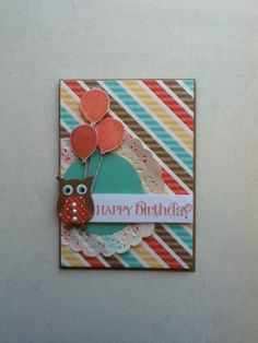 Stampin up in colour 2013-2014 owl punch birthday card