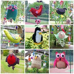 Selection of Birds from the Brilliant Birds Yarnstorm, Rowntree Park, York