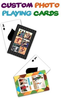 5.00 Custom Photo Playing Cards + s/h!  {I made some of these for Hubby, and we put them to use with a family game of King's Corners at Starbucks this weekend!} :) #photo