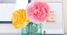 DIY peony-style flowers with the help of super cheap coffee filters for a stunning bouquet that won't wilt!