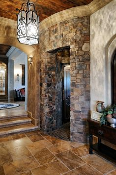 Beautiful stone hallway.