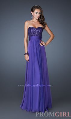 La Femme Strapless Prom Gown, Pageant Gowns and Dresses-#prom #dresses #gowns