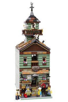 Old Fishing Store transformed into a 16-wide modular building. By koalayummies