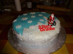 Christmas 2014 - Traditional fruit cake with marzipan and icing.