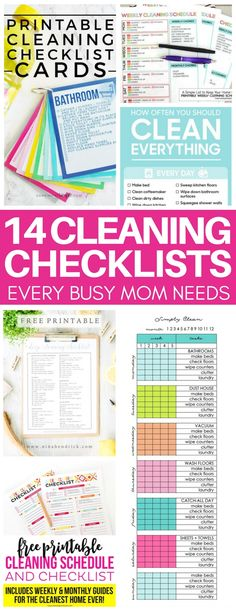 This is exactly what I needed to get me motivated for cleaning! I am obsessed with these cleaning checklists that give me an easy to follow cleaning schedule for daily, weekly, and monthly chores. I am so much more productive now and actually enjoy it now!