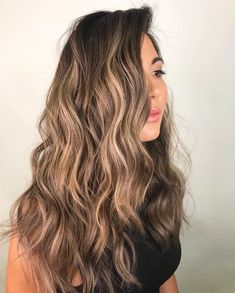 Golden Brown Balayage - 20 Best Golden Brown Hair Ideas to Choose From - The Trending Hairstyle Brown Hair Balayage, Brown Blonde Hair, Brunette Hair, Hair Highlights, Bayalage, Cabelo Ombre Hair, Hair Color For Women, Brown Hair Colors, Hair Day