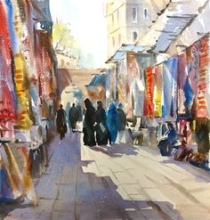 """Essaouira, Morocco"" Watercolour by Trevor Waugh"
