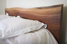 wooden headboard.