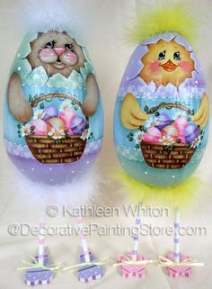 The Decorative Painting Store: Easter Eggs with Skinny Legs Pattern - Kathleen Whiton, Newly Added Painting Patterns / e-Patterns