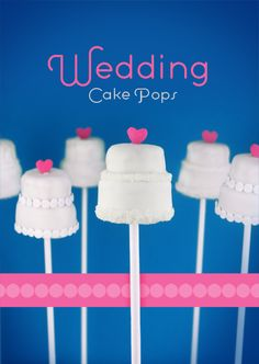 Wedding Cake Pops. I made some mini wedding cakes & some bride cake pops for my little sister's bachelorette party using this site. Turned out beautifully!