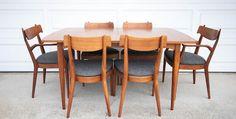 Mid Century Drexel Declaration Dining Set by Kipp Stewart and Stewart McDougall
