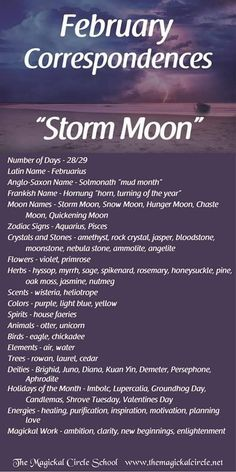 February Full Moon, Birth Month Quotes, Full Moon Names, Moon Zodiac, Witch Spell Book, Winter Moon, Full Moon Ritual, Wiccan Crafts, Eclectic Witch
