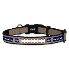 Stylish, officially licensed and reflective Houston Texans Dog Collar.