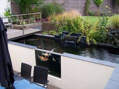 modern ponds | ... Services - Koi Pond Fibreglassing Specialists - Featured Pond Infinity