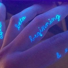 UV Tattoo Designs On Fingers UV Ink Tattoo Designs