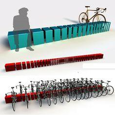 ławka - stojak na rowery