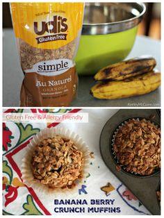 Udi's Gluten Free Banana Berry Crunch Muffin Recipe
