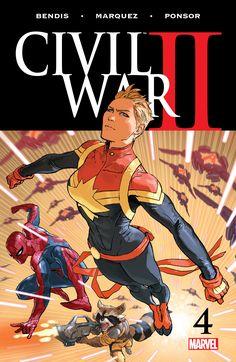 Civil War II 4 ... Captain Marvel  ... Spider-man  °°