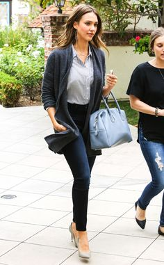 Jessica Alba from The Big Picture: Today's Hot Pics The style star perfects the work-wear look while heading to a meeting with colleagues in Westwood, Calif.