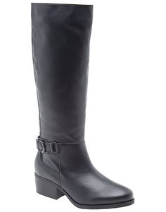 Mercedes clean leather riding boot by Lane Bryant | Lane Bryant