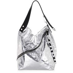 Proenza Schouler Medium Metallic Leather Hobo Bag