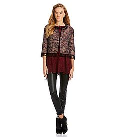 Chelsea and Violet Tapestry Tassel Jacket #Dillards
