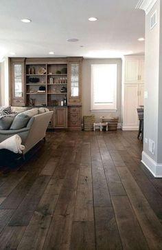 Engineered Hardwood Flooring, Hardwood Floors, Diy Flooring, Dark Hardwood, Laminate Flooring, Minimalist Dining Room, Farmhouse Living Room Furniture, World Of Interiors, Living Room Remodel