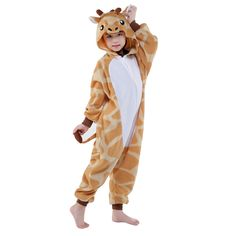 Famycos Kids Adults OnePiece Costumes Pyjamas for School Party Performance Giraffe -- Click picture for even more details. (This is an affiliate link). Pig Costumes, Mascot Costumes, Cosplay Costumes, Halloween Costumes, Giraffe Costume, Childrens Pyjamas, Winter Christmas Gifts, Cartoon Kids, Animals For Kids