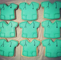 scrub top sugar cookies doctor cookies medical school party nurse