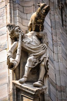 Interesting Sculpture on the Duomo di Milano (Milan Cathedral) Milan Italy