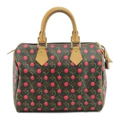 Louis Vuitton Cherry/cerise Speedy 25 Signature Tote Bag. Get one of the hottest styles of the season! The Louis Vuitton Cherry/cerise Speedy 25 Signature Tote Bag is a top 10 member favorite on Tradesy. Save on yours before they're sold out!