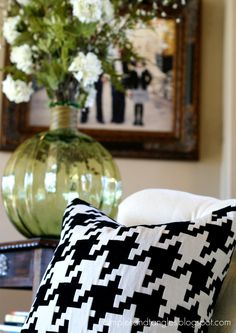 Houndstooth Pillow- I have some houndstooth material and think I will make pillows.