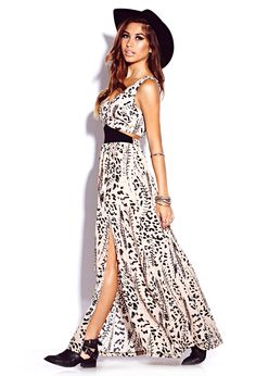 Leopard maxi dress forever 21