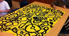 I saw this idea on a fellow art educators blog, Organized Chaos . There were 6 Kindergarten classes this school year, so I paired 2 classe...