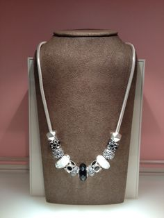 A classy black and white design by Jennifer at our PANDORA Rosedale Center location.  www.PandoraMOA.com