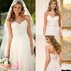 Find More Wedding Dresses Information about Vestido De Festa Longo Beach Wedding Dress Vernassa Fast Shipping In Stcok Cheap Dresses For Wedding 2015 Robe De Mariage,High Quality Wedding Dresses from BEW wedding Store on Aliexpress.com