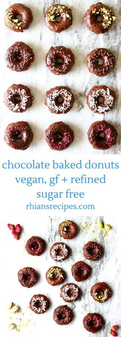 These Vegan Chocolate Baked Donuts are so easy to make! They're also undetectably refined sugar free and gluten-free optional!
