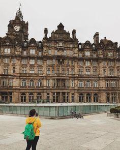 Check out the architecture on Princess Street! #edinburgh #scotland #traveltips  #travelblogger