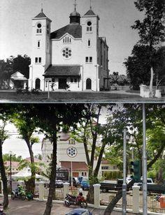 Nieuwe Kerk oftewel 'Haantjes Kerk' op Pintoe Besi, Batavia, 1915 1940 , ,., GPIB PNIEL, jl H Samanhudi, Pasar Baru, Jakarta, 2017
