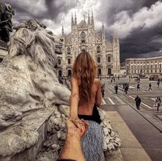 95. #followmeto the Piazza Duomo in Milan. 8 February 2014 (the 95th pic of the photo series by Russian Photographer, Murad Osmann)