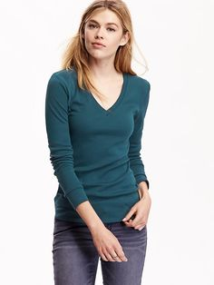 Women's Perfect V-Neck Tees Product Image