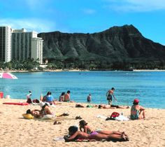 Waikiki is definitely one of my favorite spots. That's is diamond head in the distance, which is always a fun hike.
