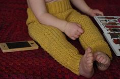 crocheted trousers