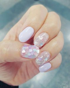 Nail Art Designs In Every Color And Style – Your Beautiful Nails Glitter Nails, My Nails, Pink Glitter, Sparkle Nails, Purple Sparkle, Pink Purple, Purple Nail, Glitter Art, Yellow Nails