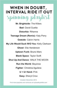 Spinning playlist: Interval ride