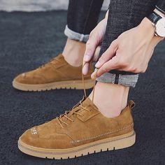 90f27547fa3c9b New British Autumn Brogue Men Casual Shoes