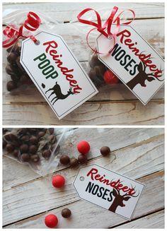free printables--reindeer poop and noses