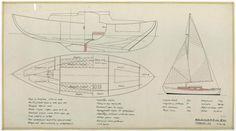 PLAN GENERAL - Baleinière de 8,25 M (1954)