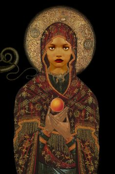 Ulla Karttunen: The Madonna of the Apricot and the Snake, Aprikoosin ja käärmeen madonna, 146 x pigment print, 2008 Lineage Of Jesus, Maria Magdalena, Marie Madeleine, Mother Mary, African American History, Religious Art, Religious Icons, Our Lady, Ancient History