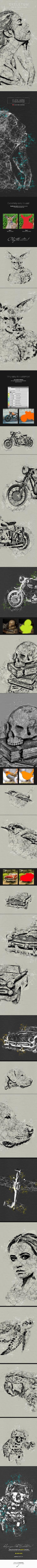 Skeletum - Plexus Art Photoshop Action - Photo Effects Actions